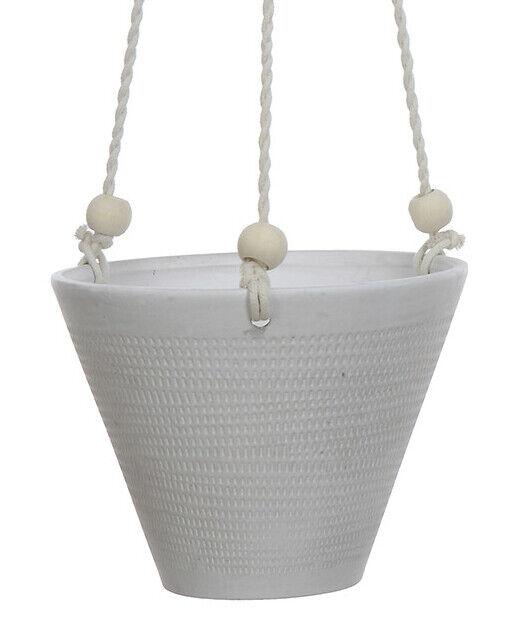 Bloomingville maceta colgadores cobrado gris 21cm sobre olla cerámica maceta