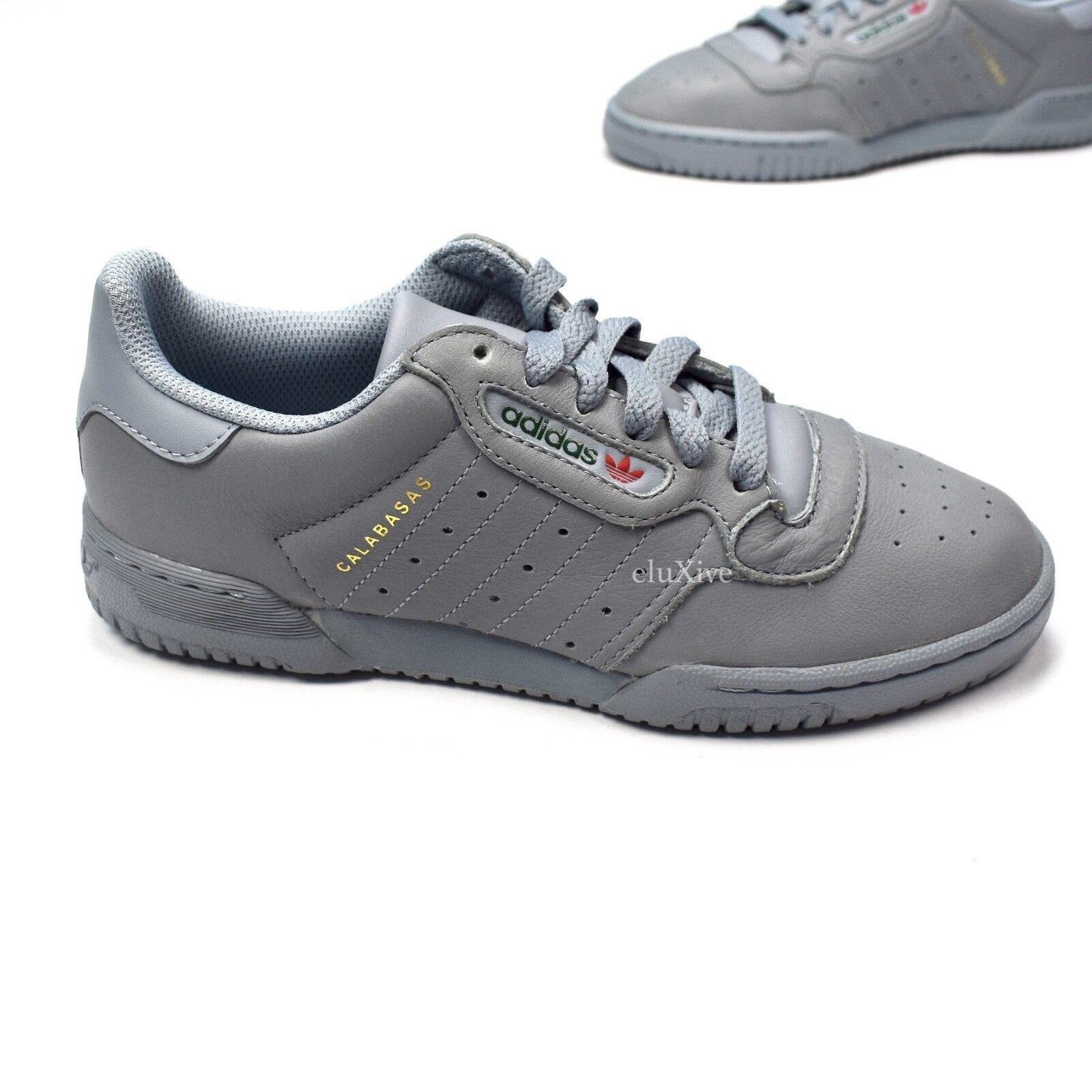 Nwt Nwt Nwt adidas yeezy powerphase pelle grigia calabasas scarpe scarpe 10 5 autentico 1a56ff