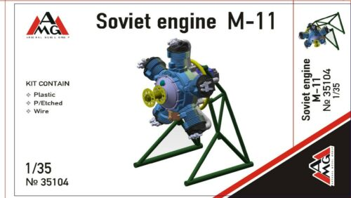 Plastic PE! 1//35 Soviet  radial engine M-11 with stand