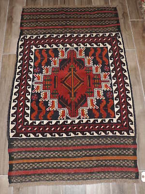 Handknotted Afghan Balouch Wool Rug 3x5ft Antiques