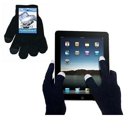 12 Pairs Black Magic Gloves Kids Touch Screen iPhone Smart Phone Winter Warm