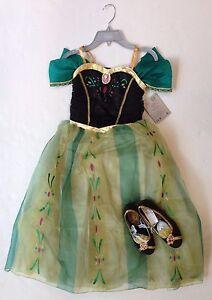 NWT Disney Store Frozen Anna Coronation Costume Dress 7/8 ...