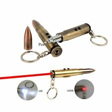 Three Uses LED Keychain Flashlight Light + Rollerball Pens with Laser Pointer