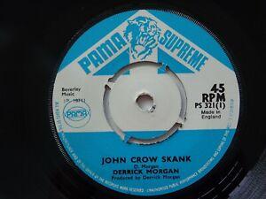 Orig-Reggae-Derrick-Morgan-Pama-Supreme-45-John-crow-Skank-1971-EX