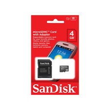 Genuine 4GB SanDisk Micro SD Memory Card  SDHC SDXC Adapter UK