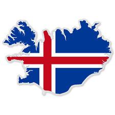 """Iceland Map Flag car bumper sticker 5"""" x 3"""""""