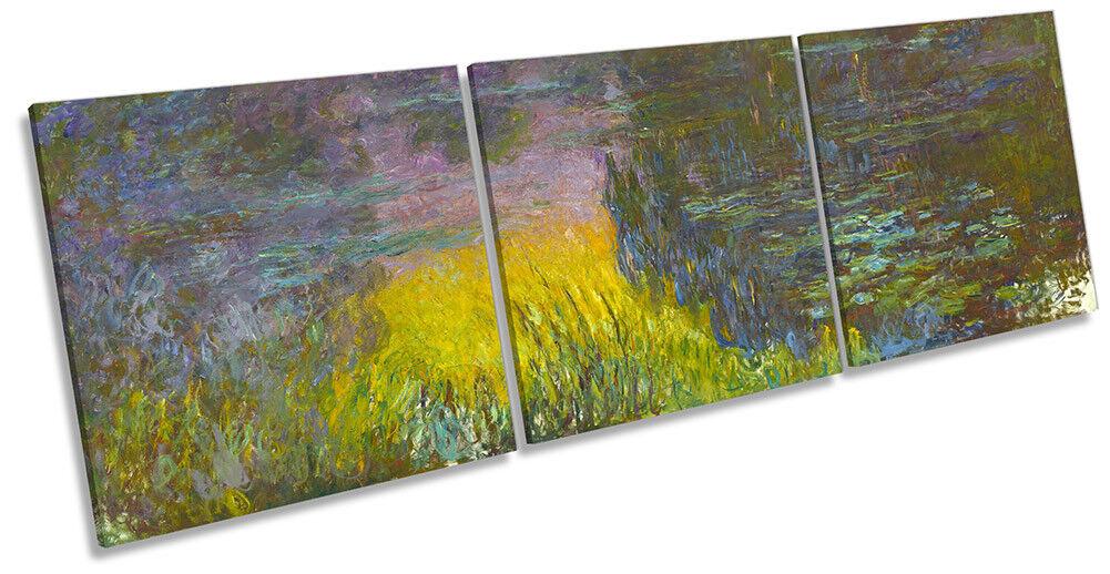Claude Claude Claude Monet The Water Lilies Setting Sun CANVAS WALL ART Triple Print 9b4d98