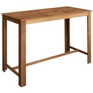 Details About Wooden Bar Table Kitchen Breakfast Dining Wood Furniture Pub Tall 150cm