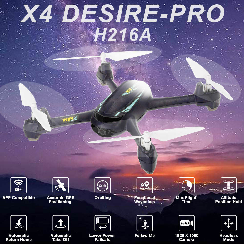 Hubsan H216A X4 Pro FPV RC Quadcopter 1080P APP Controlled Controlled Controlled Drone W  GPS RTH RTF 1d9201