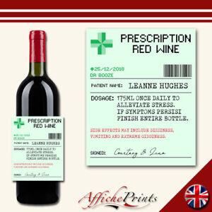 L127-personalizado-de-prescripcion-Farmacia-Vino-Tinto-novedad-Personalizado-Etiqueta-del-frasco