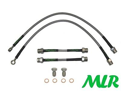 AUDI TT MK1 COUPE CONVERTIBLE S//STEEL BRAIDED BRAKE LINES HOSES PIPES KIT VZ