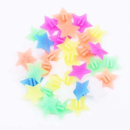 Five Point Star Multi Coloured Bike Wheel Spoke Beads Fish Spokey Decor one