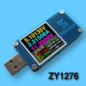 Monitor-de-alimentacion-USB-YZXstudio-ZY1276-QC-3-0-Typec-PowerDelivery-PD-Probador-FCP-AFC