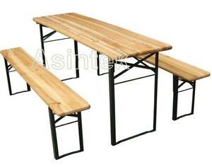 Tavoli Richiudibili Per Esterno.Set Birreria Tavolino E Panche Per Giardino Tavolo Richiudibile In