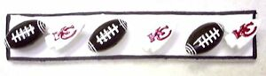 NFL KC CHIEFS Football Sport Handmade Decorative Push Pin Thumb Tacks Set of 6