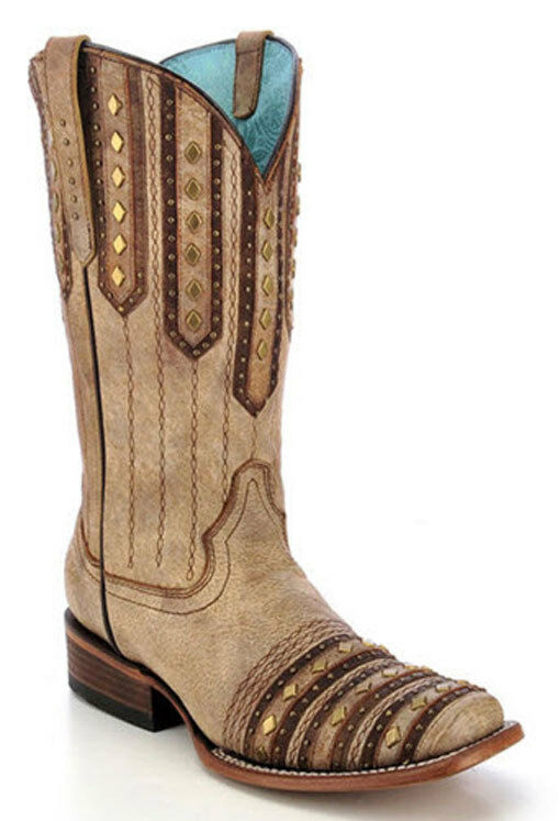 Women's Women's Women's Corral Boots Studded Patch Boot Style C2991 FREE SHIPPING 8420e5