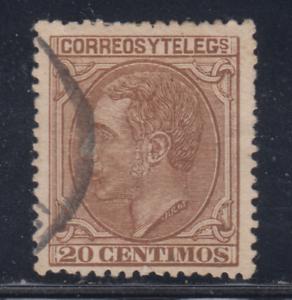 ESPANA-1879-USADO-SPAIN-EDIFIL-203-20-cts-ALFONSO-XII-LOTE-1