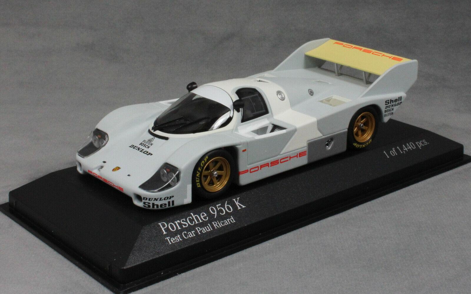 Minichamps Porsche 956K Paul Ricard Test Voiture 1982 400826700 1 43 NEUF Le Mans