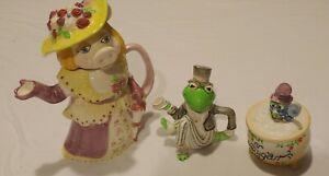 Vintage-Sigma-Ceramics-Taste-Setter-Muppets-Show-3-Pc-Tea-Set-Jim-Henson