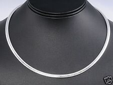 Italian Omega Chain Necklace Sterling Silver 925 Jewelry Gift 4mm x 16inches