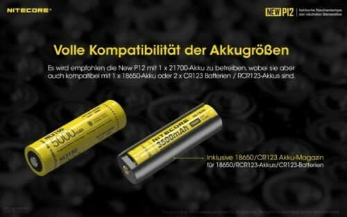 NEW P12R USB Taktische LED Taschenlampe 1200 Lu 238 m 7 Modi NITECORE NEW P12