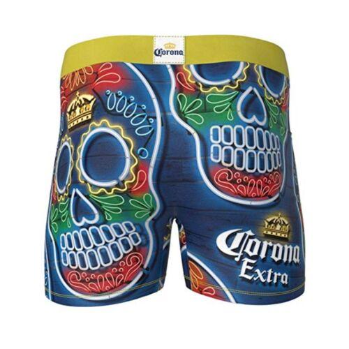 CRAZY BOXER Dia De Los Muertos Corona Skulls Boxer Briefs Men/'s sz L Large