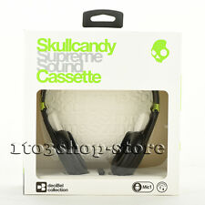Skullcandy Cassette On-Ear Stereo Headphones w/Mic & Remote Lurker Toxic Flyer