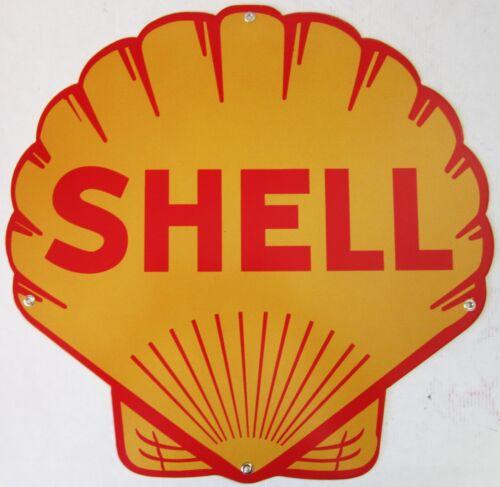 Shell Clamshell Metal Sign Plasma-Cut