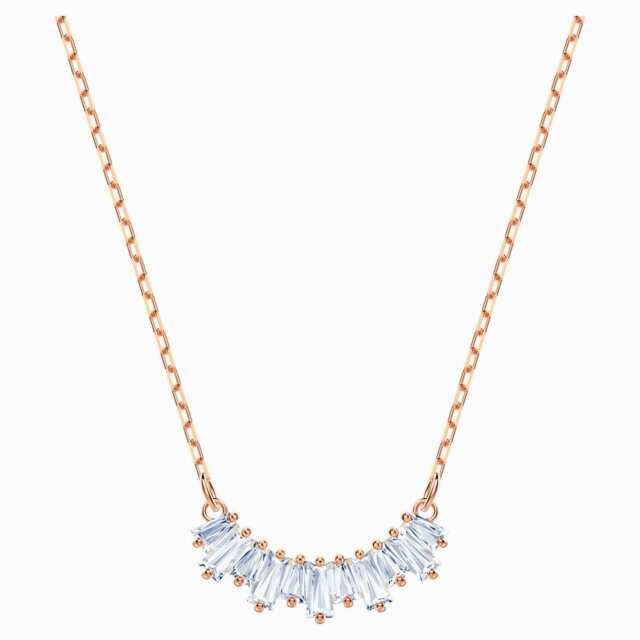 Swarovski Sunshine Necklace White Rose Gold Tone 5459590 For Sale Online Ebay