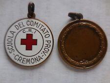 medaglia smaltata Croce Rossa CRI scuola comitato cremona