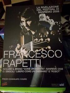 NO CD/LP - FRANCESCO RAPETTI - cartonato pubblicitario rigido - COME UN AMANTE