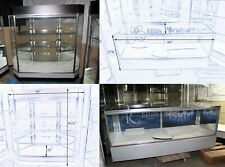 3 Retail Jewelry Display Cases Deluxe Extra Vision Showcases Pickup