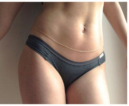 TS Fashion Link Body Belly Waist Simple Shiny Body Chain MA W0 ZD