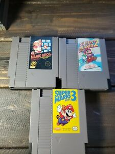 Lot-Authentic-Super-Mario-Bros-1-2-3-Nintendo-Entertainment-System-NES-Trilogy