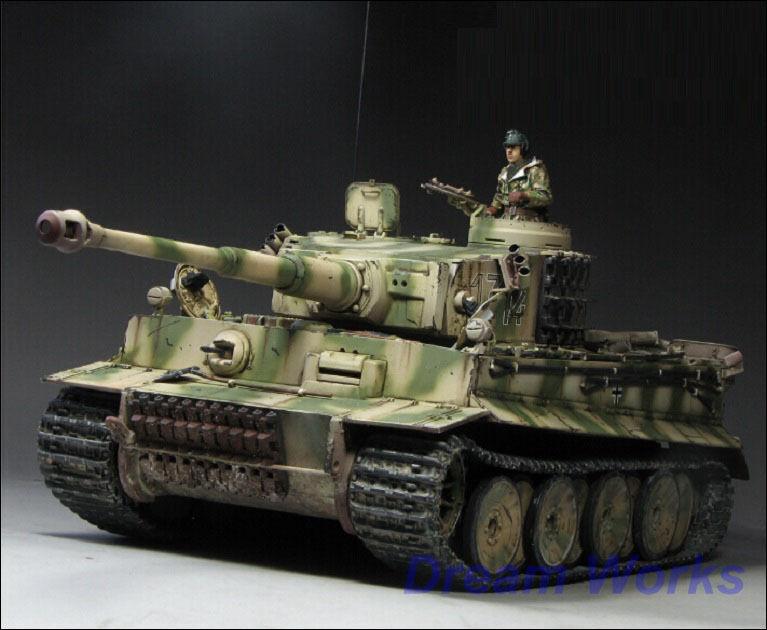 Award Winner Built Dragon 1 35 Tiger I 1314 LSSAH.sPzAbt 502 +Resin Figure+PE