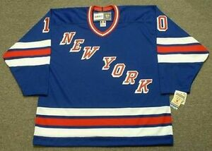 official photos 9090b fd50e Details about RON DUGUAY New York Rangers 1980 CCM Vintage Away NHL Hockey  Jersey