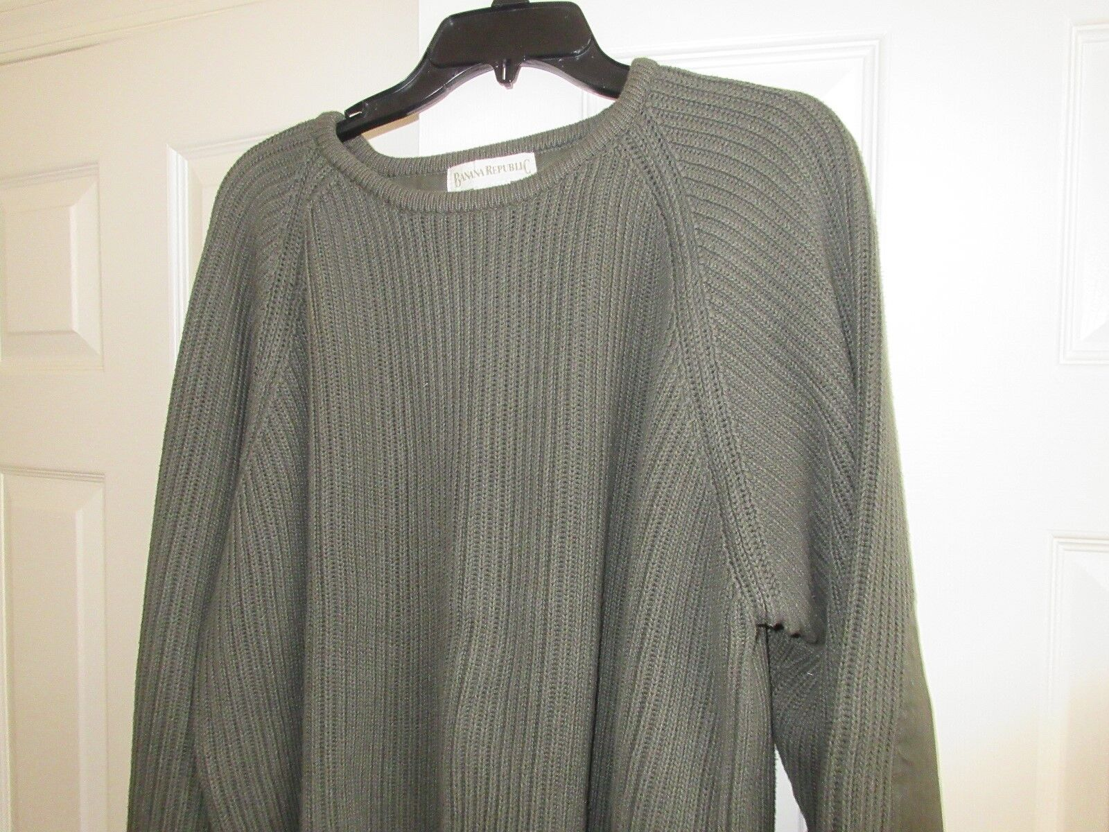 Mens Sweater ,Banana Republic , XL ,Green ,100% Cotton