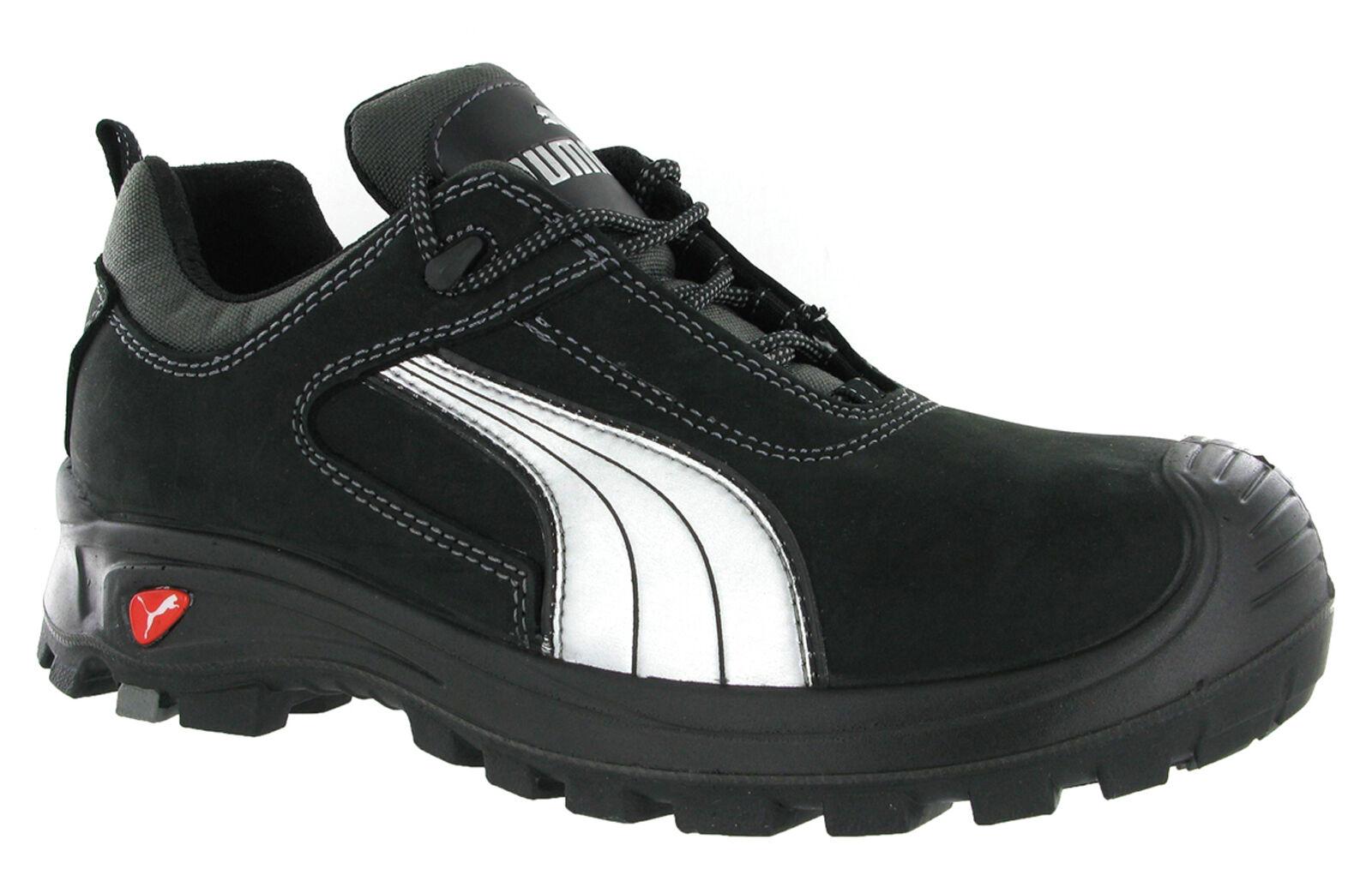 Puma Cascades Low Black S3 Safety Midsole Toe Cap Mens Trainers shoes UK6-13
