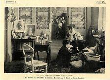 Die Gattin des chilenischen Präsidenten Donna Sara de Montt in ihrem Boudoir1907