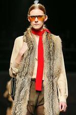 PRADA FALL 2014 RUNWAY Red Silk Skinny SCARF ~NWT~