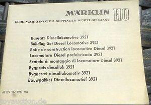 Manuel-Kit-de-Montage-Diesellokomotive-3921-Marklin-68-399-YN-0961-ma-H0-1-87-A