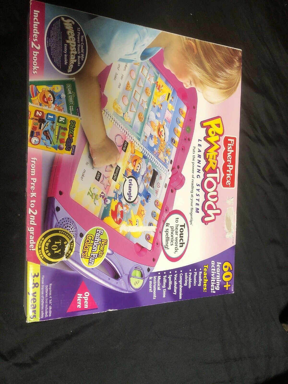 FISHER PRICE POWER TOUCH LEARNING SYSTEM NEW TOY AGES 3-8 PRE K -2ND GRADE GIFT