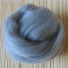 100g Merino Wool Tops 64's Dyed Fibres - Silver - Felt Making and Spinning