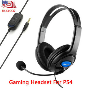Gaming Headset Stereo Surround Headphone 3.5mm Wired For PS4 Xbox Mic One Laptop