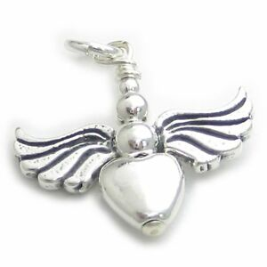 Angel sterling silver charm pendant .925 x 1 Angels Protection charms DKC44136
