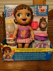 Baby Alive Breakfast Time Baby Doll Accessories Brunette New 5010993722853 Ebay