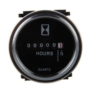 Contador-de-horas-6-a-80-voltios-DC-Anillo-de-ajuste-redondo-plateado-G7O3