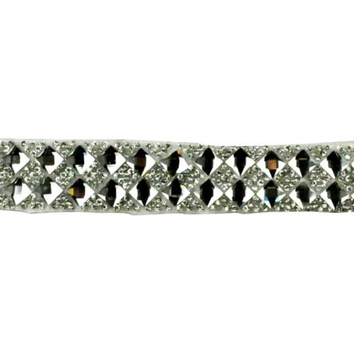 BRSY-16 5 Yard Glass Diamond Rhinestone Iron-On Trim