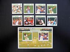 St VINCENT 1988 Cricket Set of (8) & M/Sheet SG1144/MS1152 U/M SALE PRICE FP2911