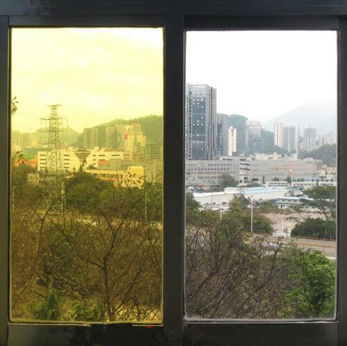 Jaune Décorative Fenêtre Tint Film Solaire Teinte Party Festival Home verre decor
